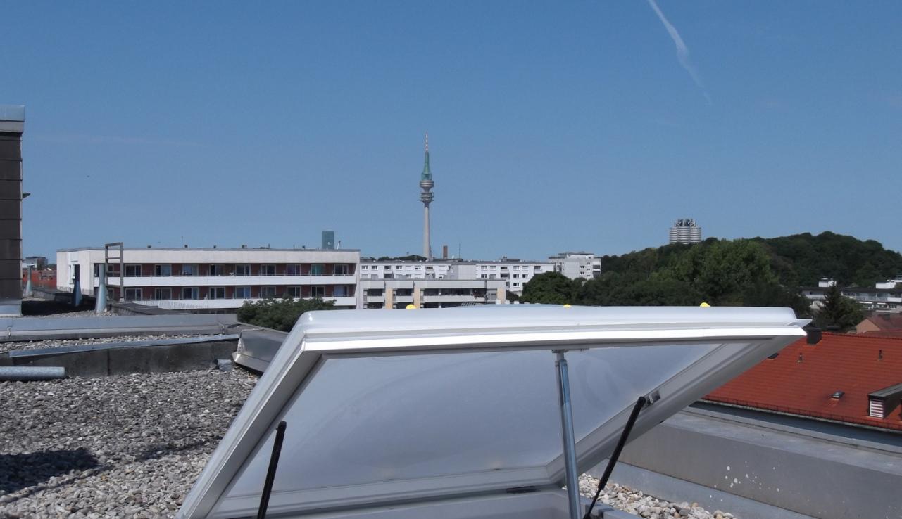 Lichtkuppel Einbau München Brandschutz